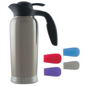 Stanley Commercial ErgoServ Creamer, Brushed Stainless/Black (1L)