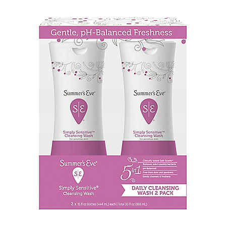 Summer's Eve Cleansing Wash, Simply Sensitive (15 oz. ea., 2 pk.)
