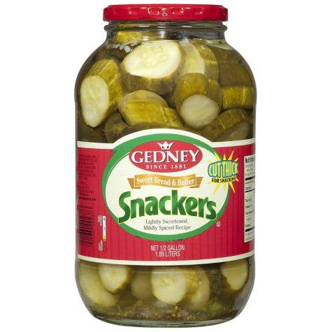 Gedney Sweet Bread & Butter Snackers - Half Gallon - 64 oz.