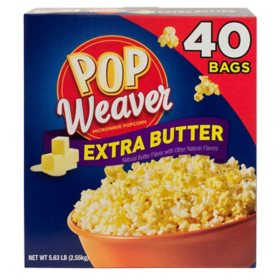 Pop Weaver Extra Butter Microwave Popcorn (40 ct.)