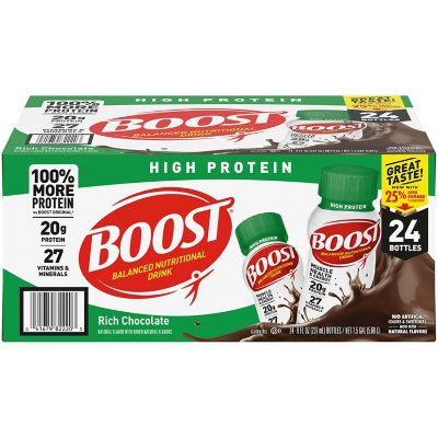 Boost High Protein Drink Chocolate 24 Pk Sams Club