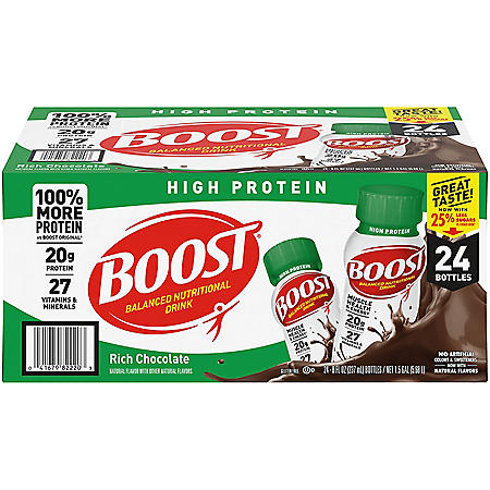BOOST High Protein Drink, Chocolate (24 pk.)