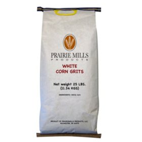 Prairie Mills White Corn Grits - 25 lb. bag
