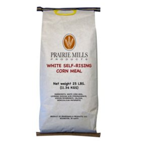 Prairie Mills White Self-Rising Corn Meal (25 lbs.)