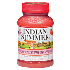 Indian Summer Premium Chunky Strawberry Applesauce (12 pk., 23 oz.)