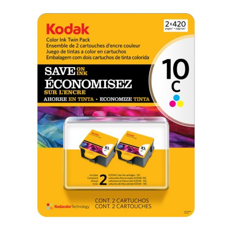 Kodak 10 Series Inkjet Cartridge - Color - 2 pk.