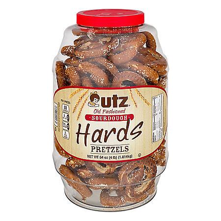 Utz Old Fashioned Sourdough Hard Pretzel Barrel (64oz / 2pk)