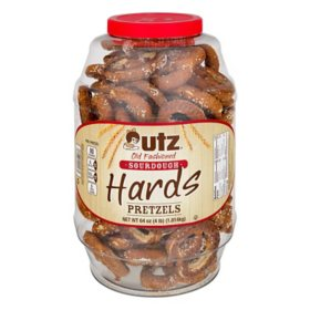 Utz Old Fashioned Sourdough Hard Pretzel Barrel (64oz / 2pk)