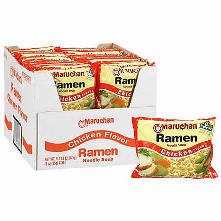 Maruchan Ramen Noodle Soup, Chicken Flavor (3 oz., 36 pk.)