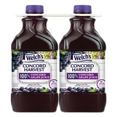 Welch's 100% Concord Grape Juice (64 oz., 2 pk.)