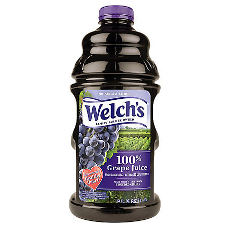 Welch's 100% Purple Grape Juice (10 oz., 18 pk.)