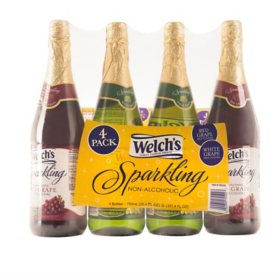 Welch's Sparkling Juice Cocktail Variety Pack (750 ml, 4 pk.)