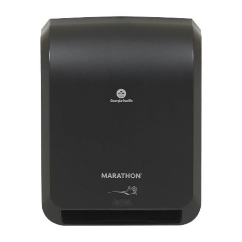 Marathon Automated Touchless Roll Towel Dispenser, 350 ft. Capacity (Smoke)
