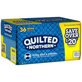 Quilted Northern Toilet Paper (36 rolls, 328 sheets/roll)