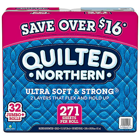 Quilted Northern Ultra Soft & Strong Toilet Paper (32 rolls, 271 2-ply sheets/roll)