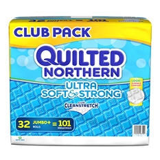 Quilted Northern Ultra Soft & Strong Toilet Paper, 2-Ply (32 Jumbo Rolls, 244 Sheets)