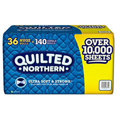 Quilted Northern Ultra Soft & Strong Bathroom Tissue, 2-Ply, (36 huge rolls, 300 sheets)