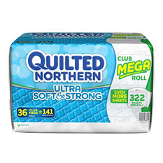 Quilted Northern Ultra Soft & Strong Toilet Paper, 2 Ply (36 rolls, 322 sheets)