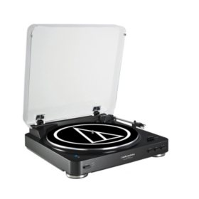 Audio-Technica Fully Automatic Wireless Belt-Drive Stereo Turntable - Black
