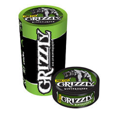 Grizzly Fine Cut Wintergreen Tobacco (5 cans, 1.2 oz. each)