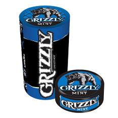 Grizzly Long Cut Mint Tobacco (5 cans, 1.2 oz. each)