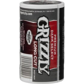 Grizzly Long Cut Premium Dark Select (1.2 oz. can, 5 ct.) $1.00 Off Per Can
