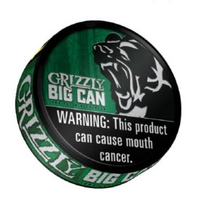 Grizzly Big Can Long Cut Wintergreen (4 ct.)