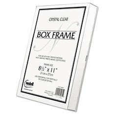 Nu-Dell - Un-Frame Box Photo Frame, Plastic, 8-1/2 x 11 -  Clear