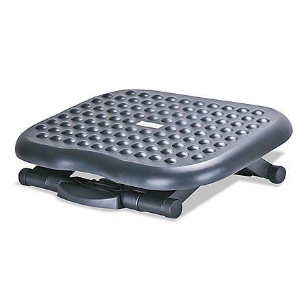 Alera Relaxing Adjustable Footrest, Black