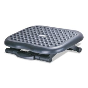Alera Relaxing Adjustable Footrest, Black