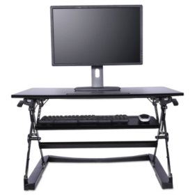 "Alera 35"" Sit-to-Stand Lifting Workspace, Black"
