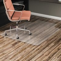 Alera All Day Use Non-Studded Chair Mat for Hard Floors, 36 x 48, Lipped (Clear)