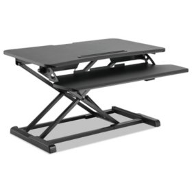 Alera AdaptivErgo Sit-Stand Workstation, Choose a Size (Black)