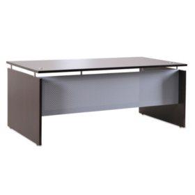 "Alera 72"" SedinaAG Series Straight Front Desk Shell, Espresso"
