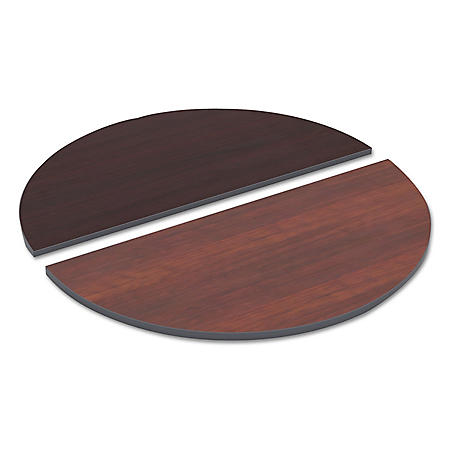 "Alera 48"" Reversible Half-Round Laminate Table Top, Select Color"