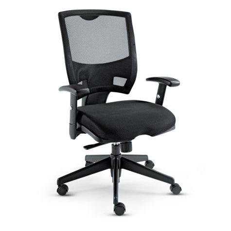 Alera Nico Mid-Back Swivel/Tilt Chair, Black