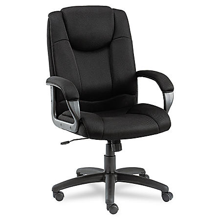 Alera Logan Series Mesh High-Back Swivel/Tilt Chair, Black