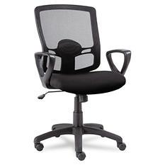 Alera Etros Series Mid-Back Mesh Swivel/Tilt Chair, Black