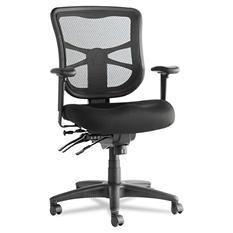 Alera Elusion Series Mesh Mid-Back Multifunction Chair, Black