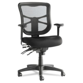 Alera Elusion Series Mesh Mid-Back Multifunction Chair, Black
