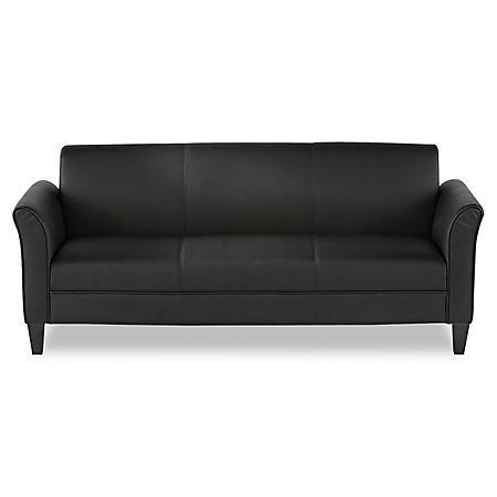 Alera 3-Cushion Reception Lounge Sofa, Black