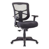 Alera Elusion Series Mesh Mid-Back Swivel/Tilt Chair, Black