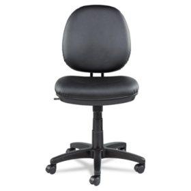 Alera Interval Series Swivel/Tilt  Leather Task Chair, Black
