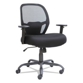 Alera Merix450 Series Big & Tall Mid-Back Mesh Swivel/Tilt Chair, Black