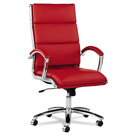 Alera Neratoli Series High-Back Swivel/Tilt Chair, Select Color