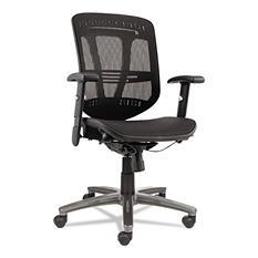 Alera Eon Series Multi-function Mid-Back Mesh Chair, Black