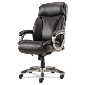 Alera Veon Series Executive High-Back Leather Chair, Select Colors