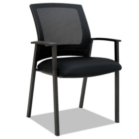 Alera ES Series Mesh Stack Chairs, Black - 2 pack