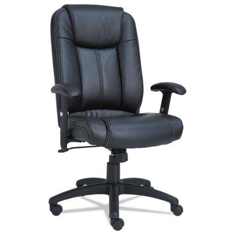 Alera CC Series Executive High-Back Swivel/Tilt Leather Chair, Black