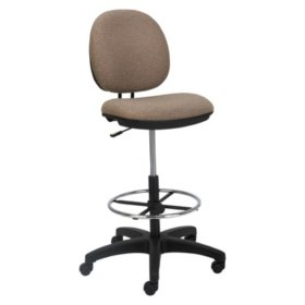 Alera Interval Series Fabric Swivel Task Stool, Sandstone